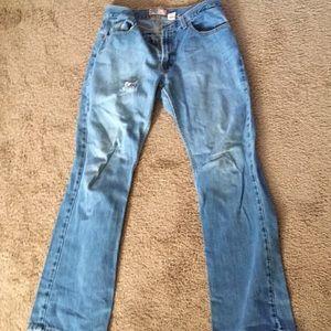 Size 12 Long Denim Blue Jeans (Women's)